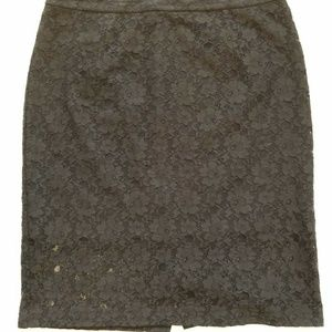 Halogen Black Lace Pencil Skirt Women's Skirt 14
